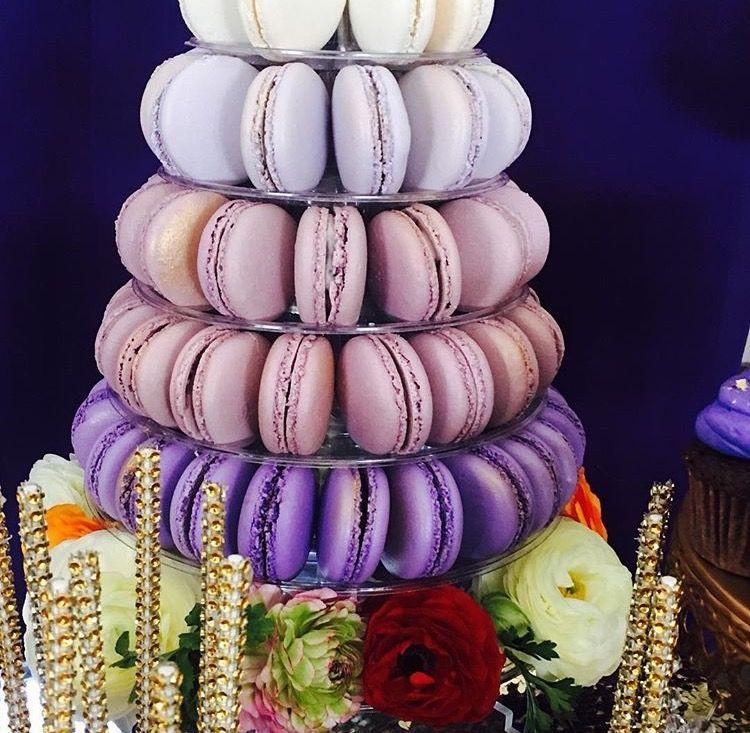 Purple schemed macaroons