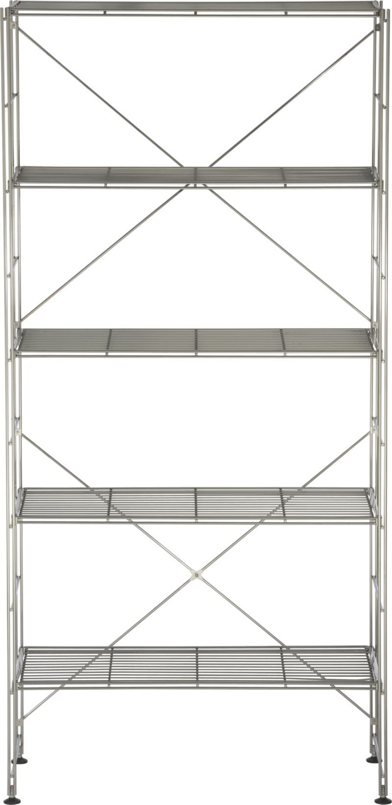 Chrome 5-Shelf Unit in Shelving | Crate and Barrel | Home Sweet Home ...