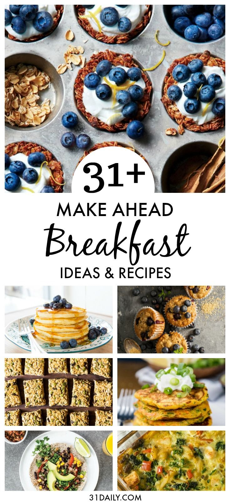 31+ Incredible Make Ahead Breakfast Recipes and Ideas images