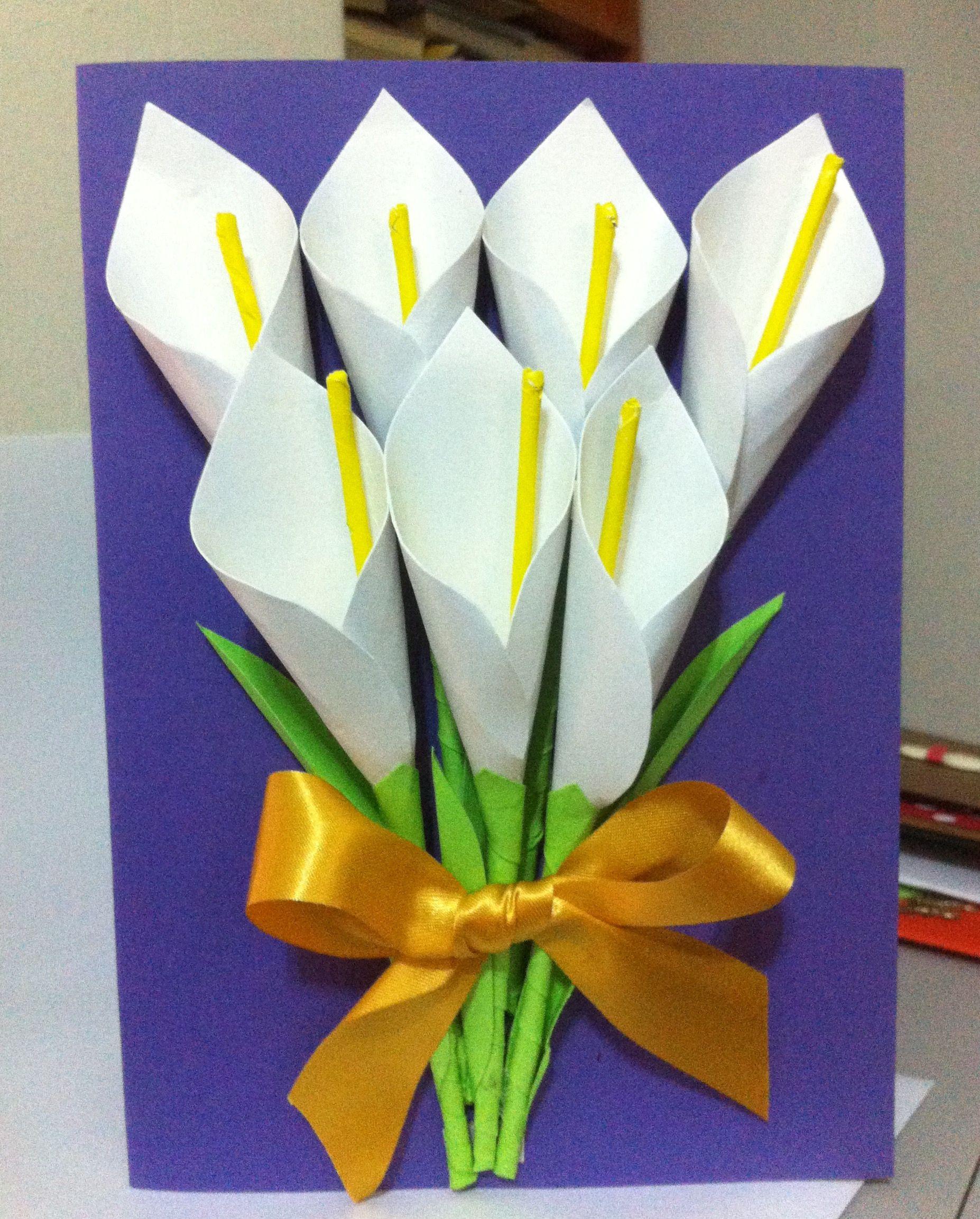 Lilies Handmade Card Handmade Greetings Cards Pinterest Diy