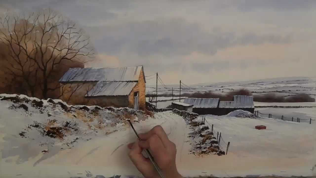 Geoff Kersey Winter Landscape In Watercolour Timelapse