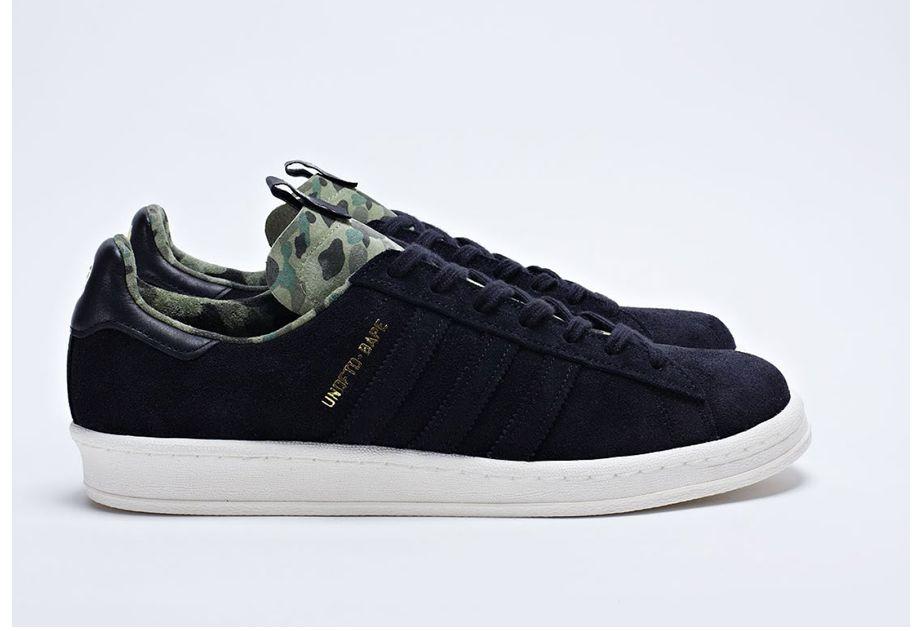 Adidas × Bape × Undefeated Undftd X Bape X Adidas Campus 80s