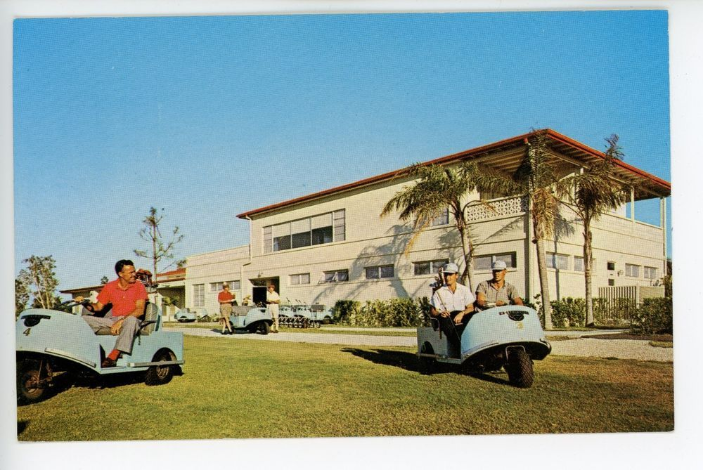 Vintage Golf Course & Carts Postcard - Lehigh Acres FL Country Club ...