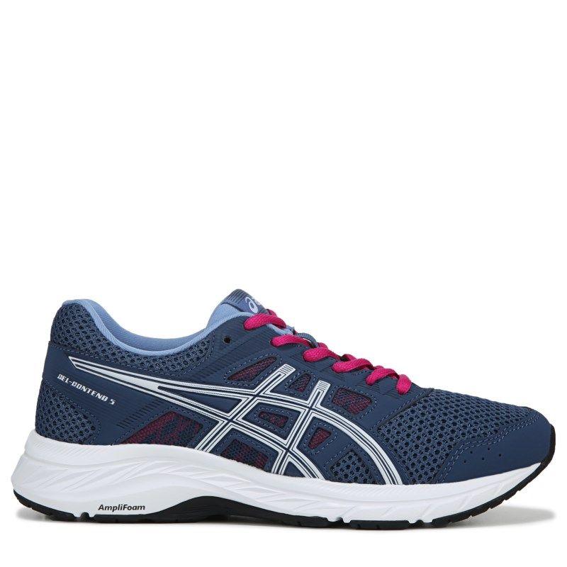 ASICS Women's Gel Contend 5 Wide Running Shoes (NavyPink