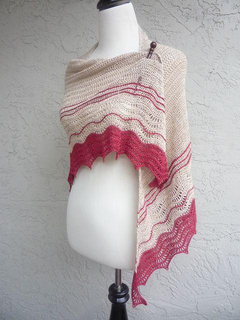 Klamath shawl pattern, crocheted by MyDailyFiber; slightly modified from original pattern.  . . .  ღTrish W ~ http://www.pinterest.com/trishw/  . . .   #crochet