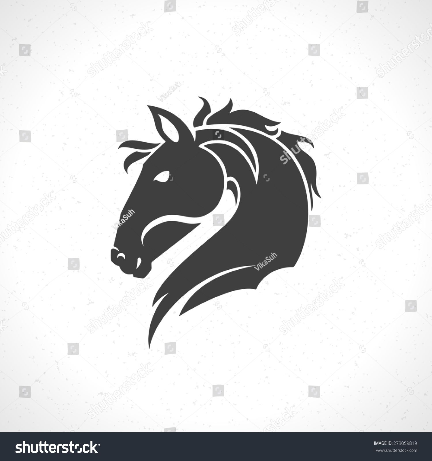 Horse face logo emblem template mascot symbol for business or shirt ...