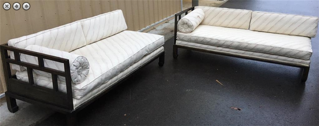 M37Auction.com: Michael Taylor   Baker Furniture Collections   Designer Asian  Sofas