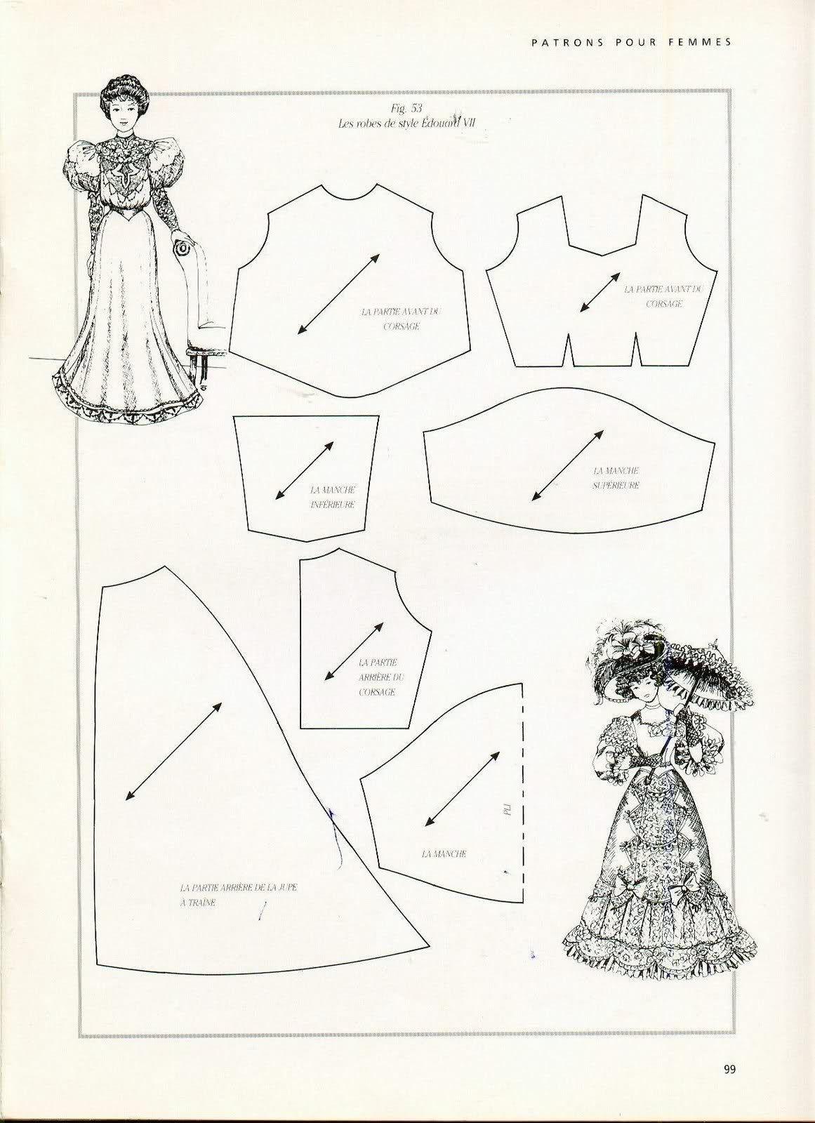 Free Gown Pattern | Tutoriales | Pinterest | Muñecas, Patrones y Costura