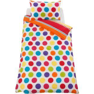 Buy Colour Match Kids' Spot and Stripe Duvet Set - Single at Argos ... : mr tumble quilt cover - Adamdwight.com
