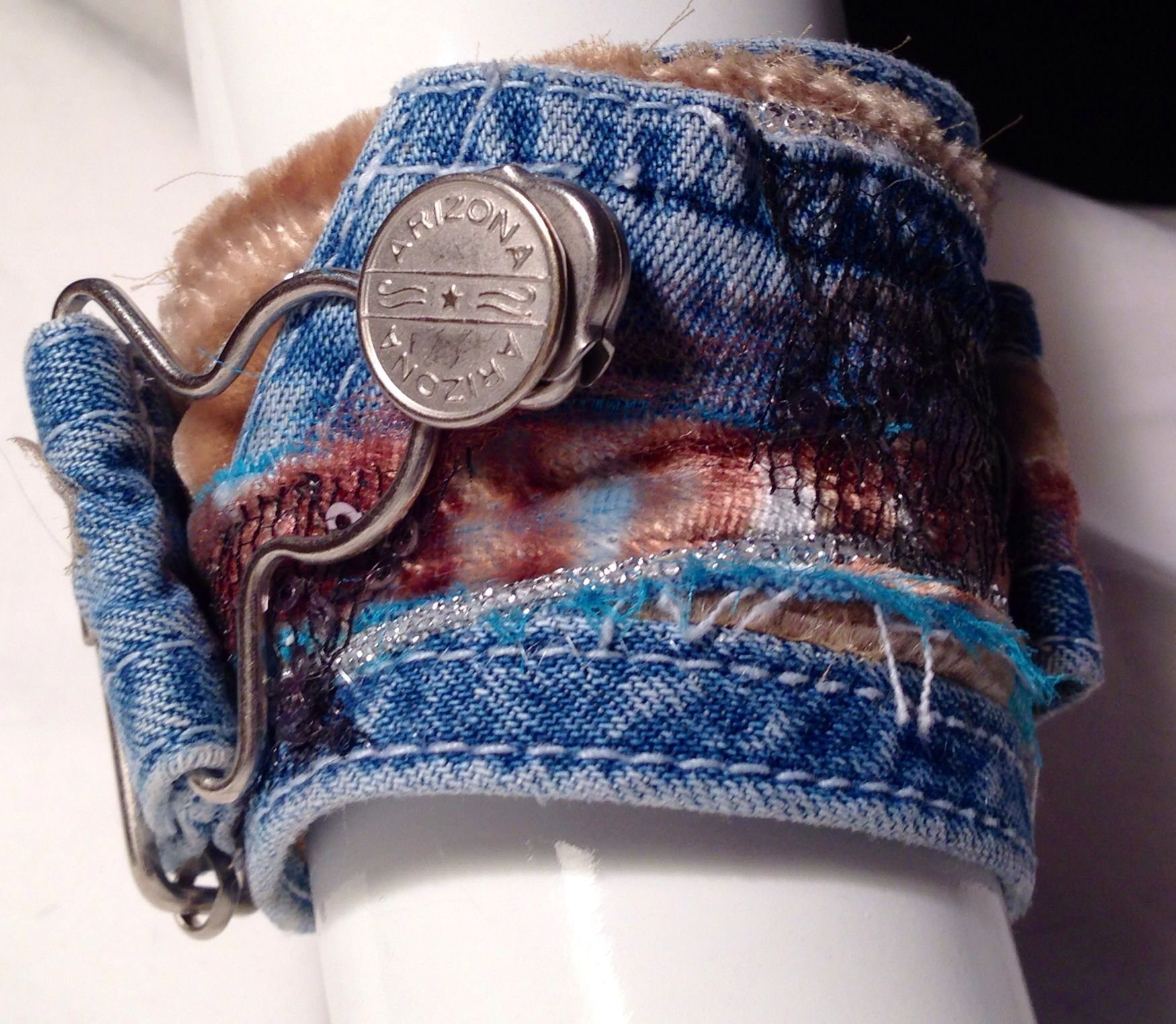 Fabric cuff bracelet at www.dianasartquilts.etsy.com Made ... - photo#10