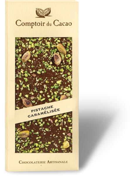 Tablettes Gourmandes Pistache Caramelisee Pistache Cacao Gourmands
