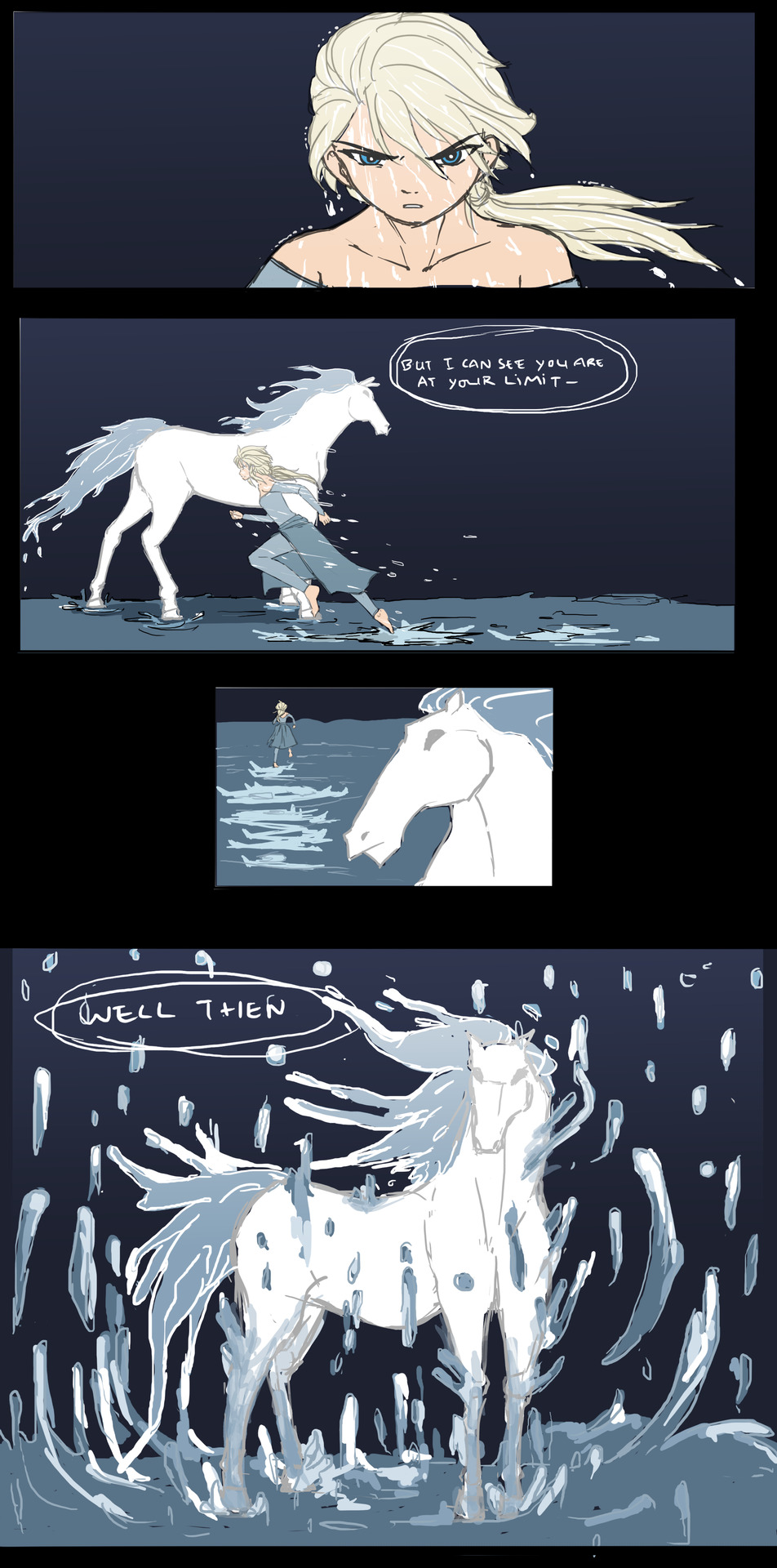 Part 2 4 Horse Drawings Horse Water Water Spirit