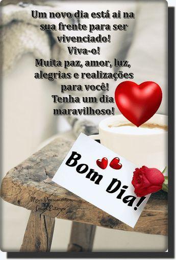 Bom dia!_______________ Comece bem o dia__ Com alegria, amor e Fé_________________________ Não importa a cor do céu, se amanheceu com um sol radiante... - _♥○○Meus Pensamentos○○♥_ - Google+