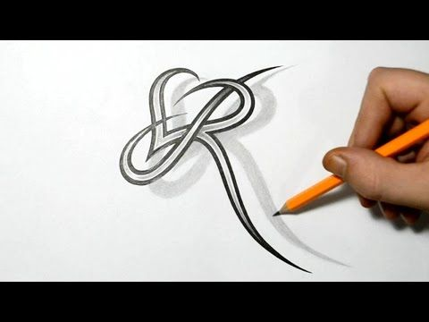 Initial A and Heart Combined Together - Celtic Weave Style ...