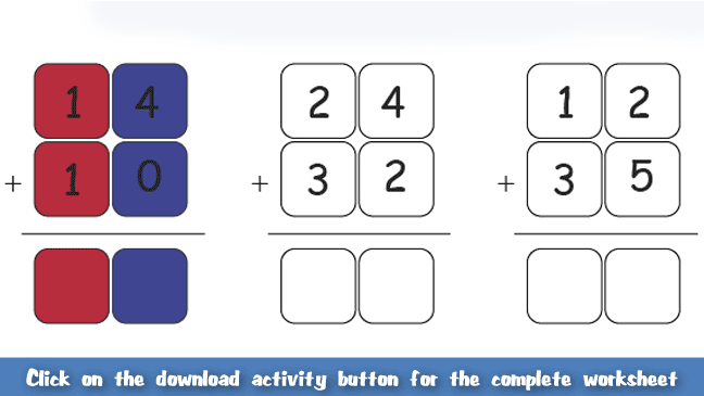 Add Tens And Ones Worksheet For Kids Maths For Kids Pinterest