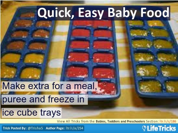 Babies, Toddlers and Preschoolers - Quick, Easy Baby Food