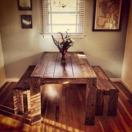 Pallet kitchen table craft ideas pinterest pallets kitchens would love a kitchen table like this modern farm table do it yourself home projects from ana white solutioingenieria Image collections