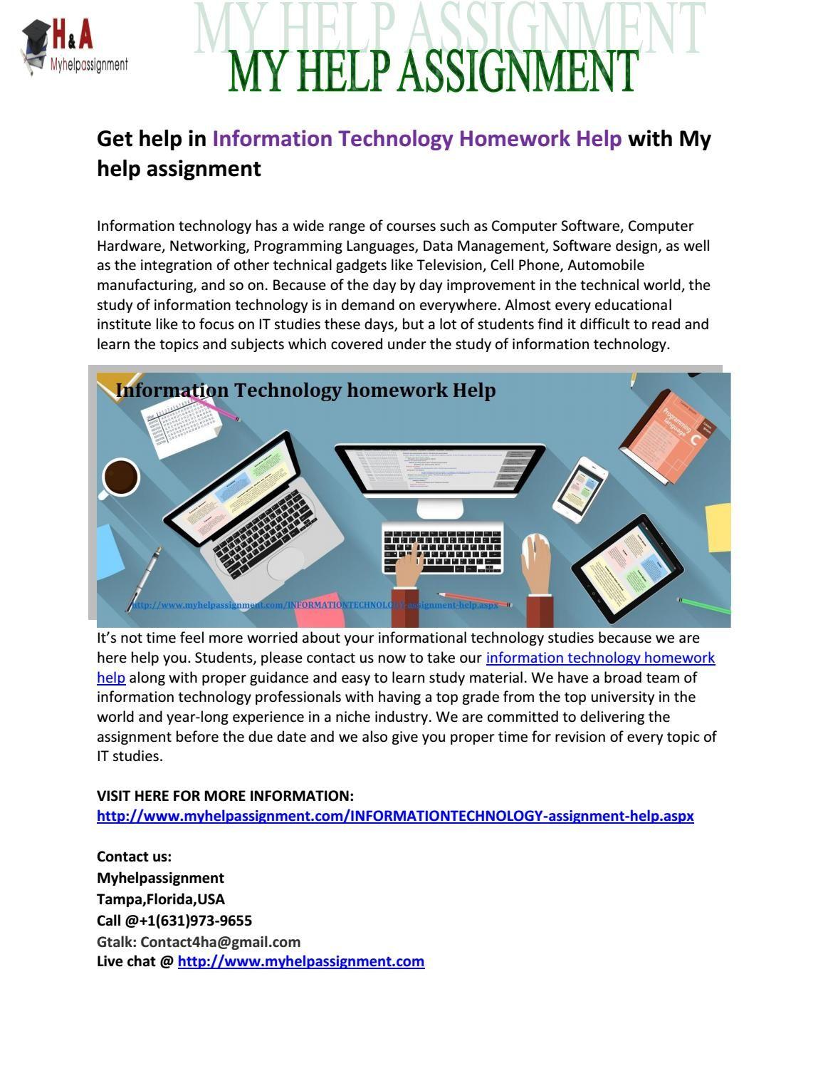 Technology homework help