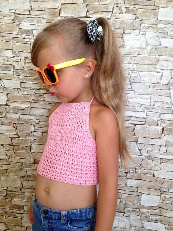 fuchsia pink Crochet bohemian halter top
