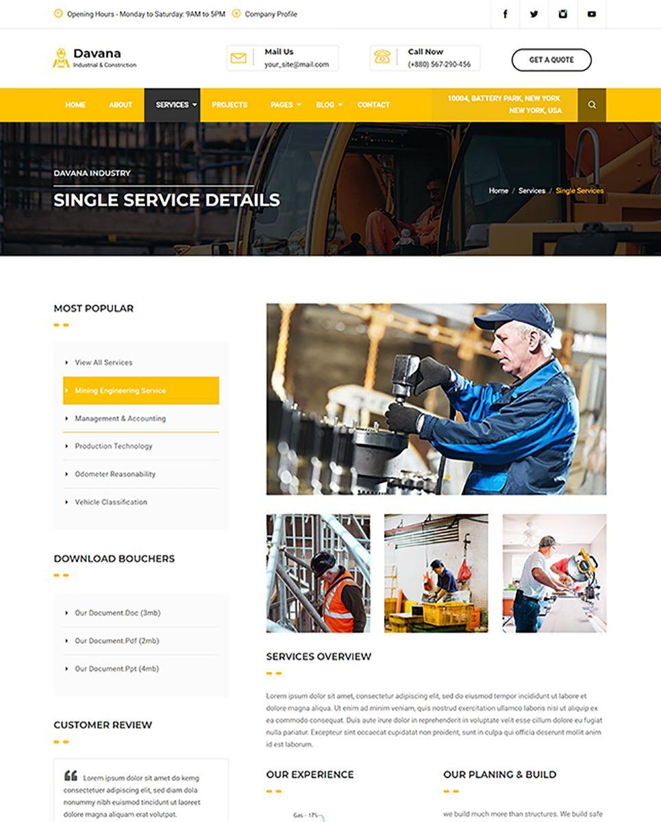 Davana Factory Industrial Oil Gas Business Template Business Website Templates Web Design Tips Business Template