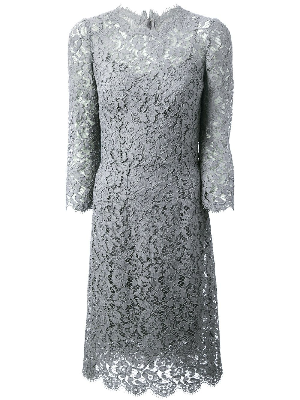 Lace dress gray  Image result for dolce and gabbana grey lace dress  fashion