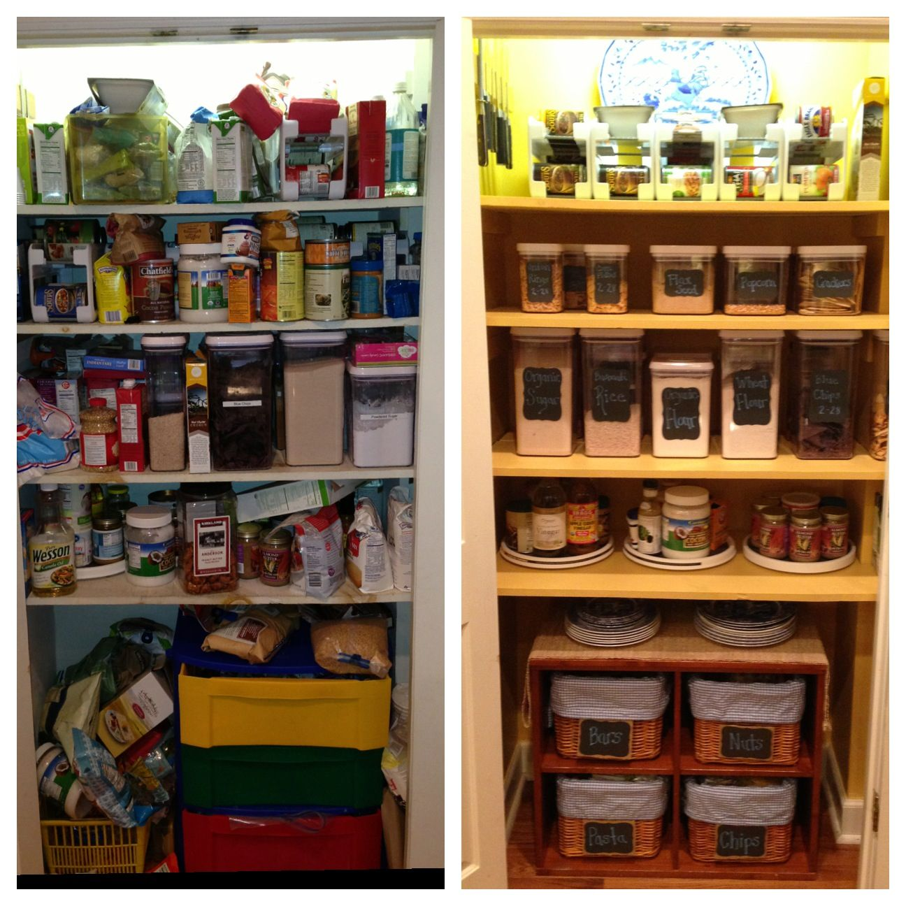 before and after pantry redo pantry makeover pantry pantry organization on kitchen organization before and after id=22828