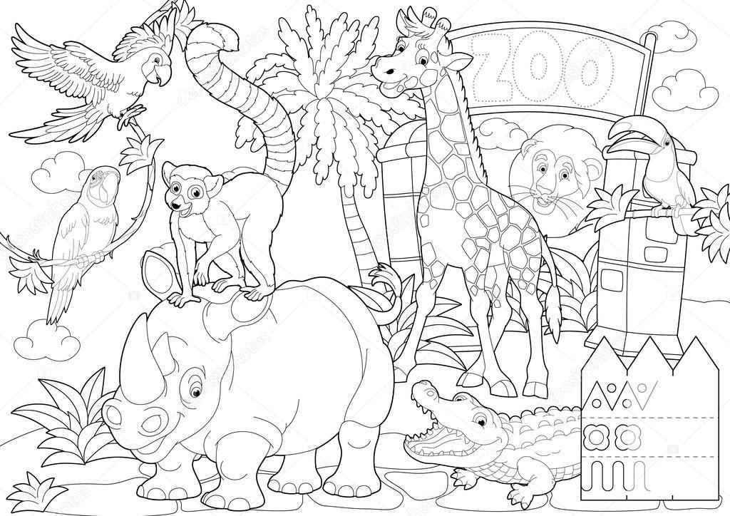 Resultado De Imagem Para Animais Do Zoologico Para Pintar