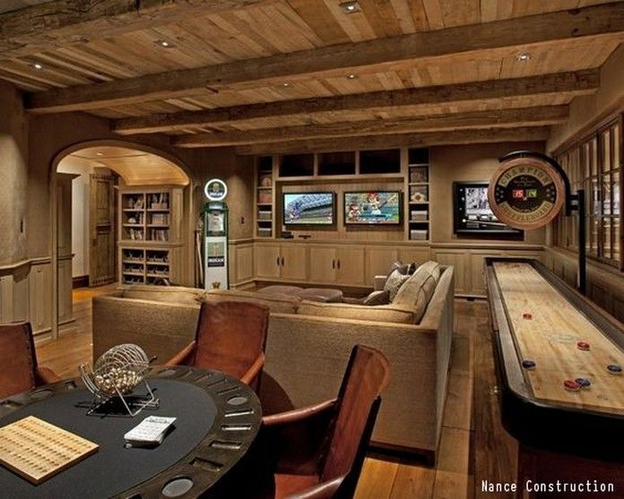 We Ll Take Any One Of These Awesome Man Caves 24 Photos Suburban Men Rustic Basement Basement Design Basement Remodeling