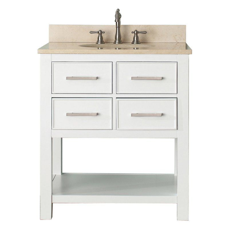 Avanity Brooks Vs30 Wt Brooks 30 In Single Bathroom Vanity Marble