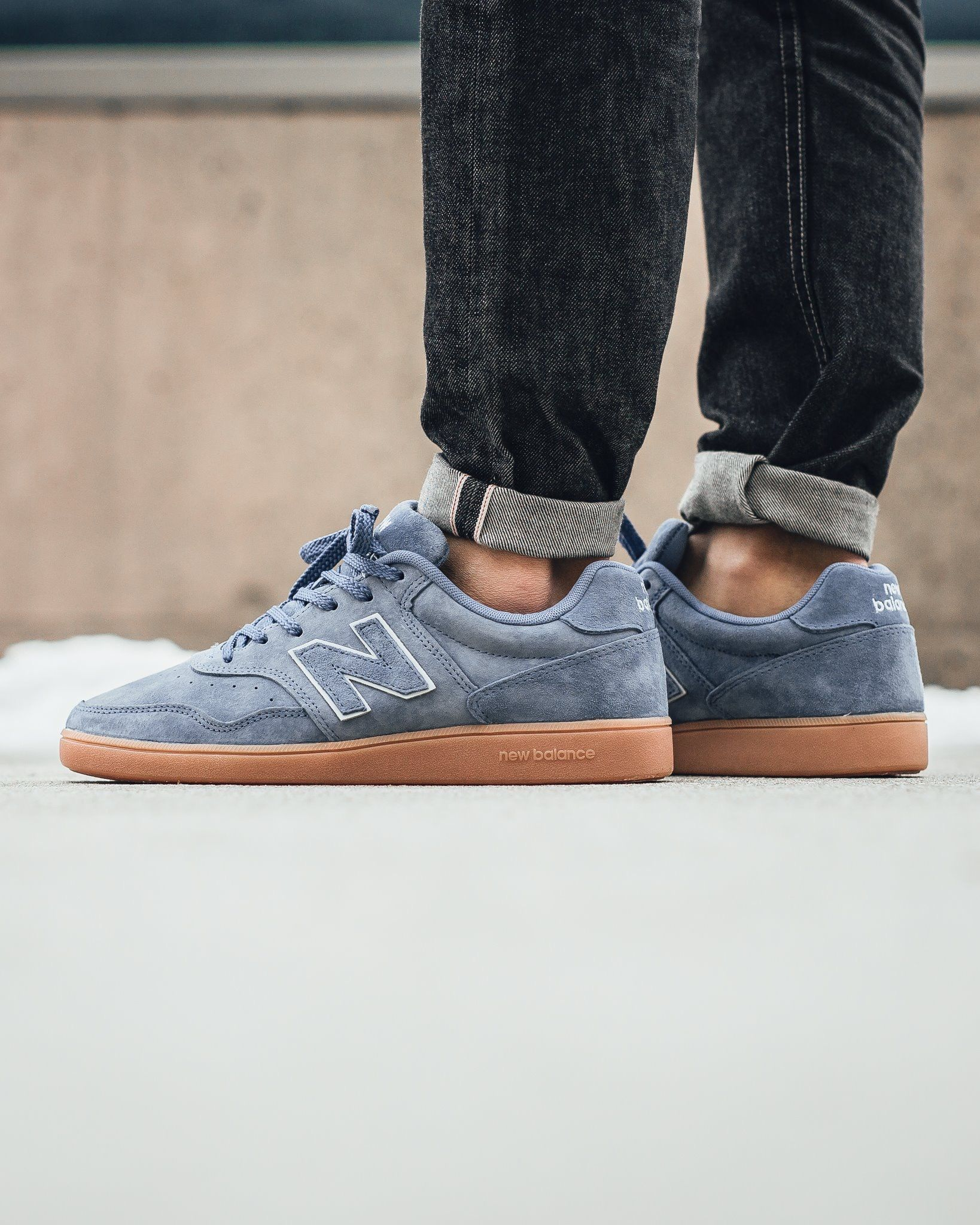 new balance split suede