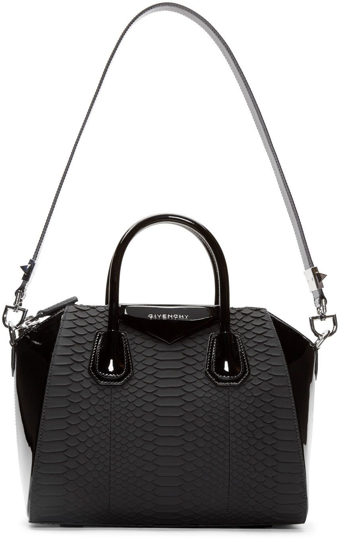 ebba773dd0 Givenchy Black Python Leather Small Antigona Bag