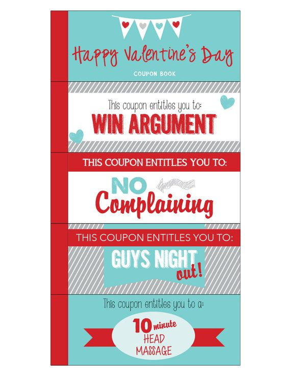 Valentine Coupon Book Printable Love Coupons Romantic Etsy Coupon Book Love Coupons Valentines Coupon Book