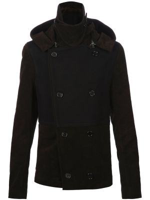 ANN DEMEULEMEESTER - double breasted hooded coat by farfetch