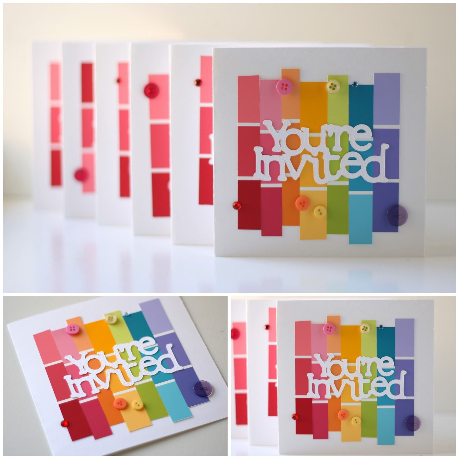 Scrapbook ideas rainbow - Paint Swatch Idea Grab Paint Swatches To Add A Pop Of Color To Scrapbook Layouts