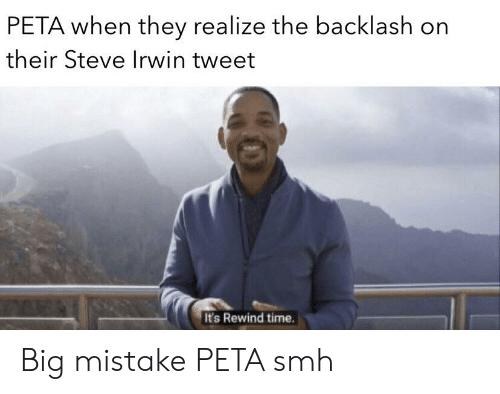 Peta steve irwin tweet