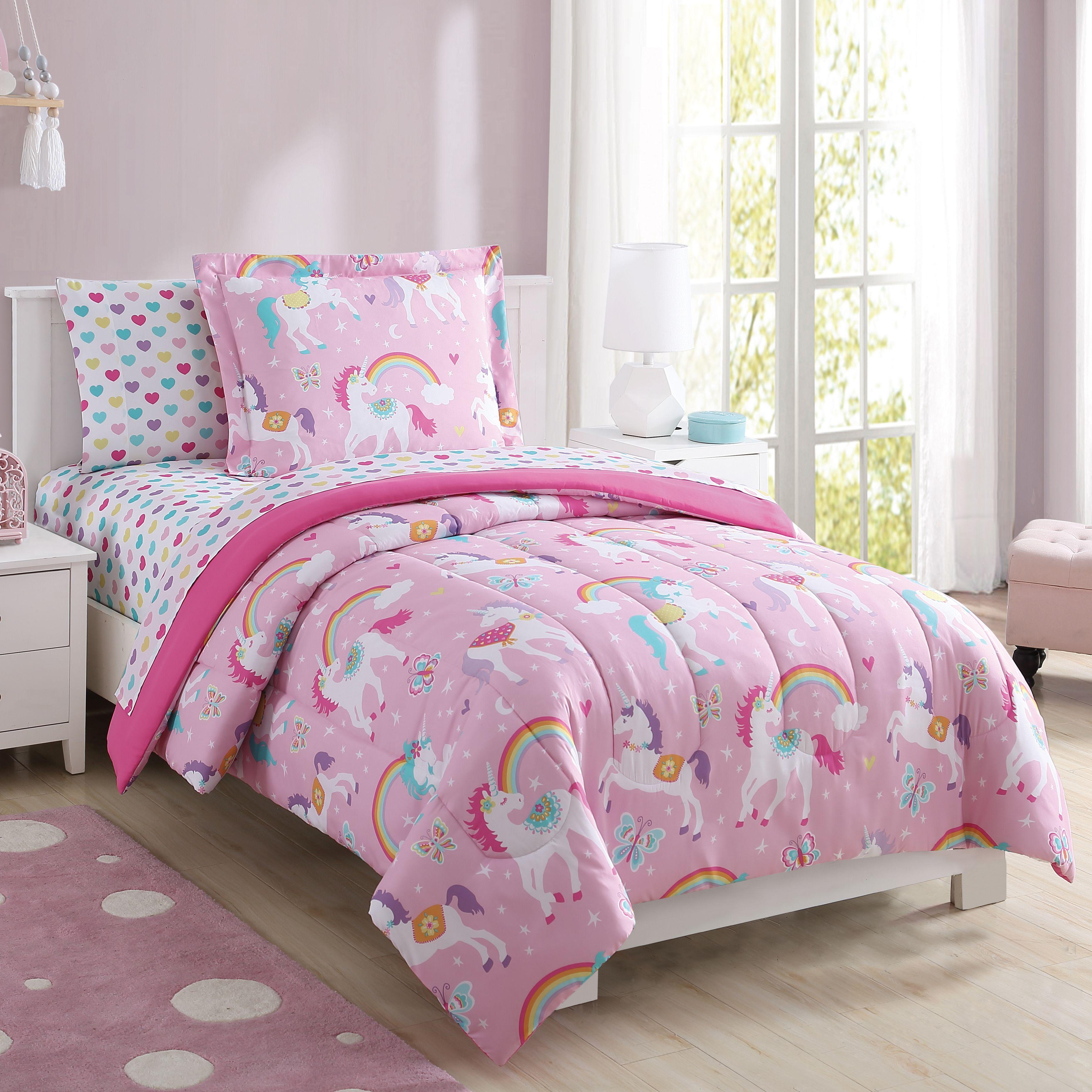 Home Complete Bedding Set Unicorn Bedding Girl Beds
