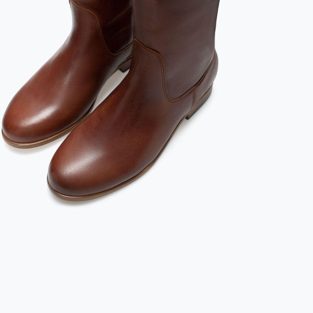 pre-comanda serviciu bun 100% calitate ZARA - SHOES & BAGS - CIZME ECHITAŢIE COMBINAŢIE PIELE | Boots ...