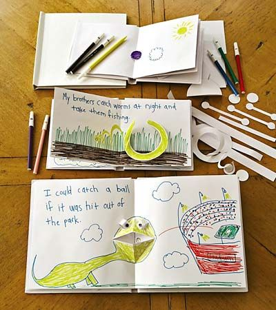 DIY pop-up books for children to make  I'm sure it's possible to