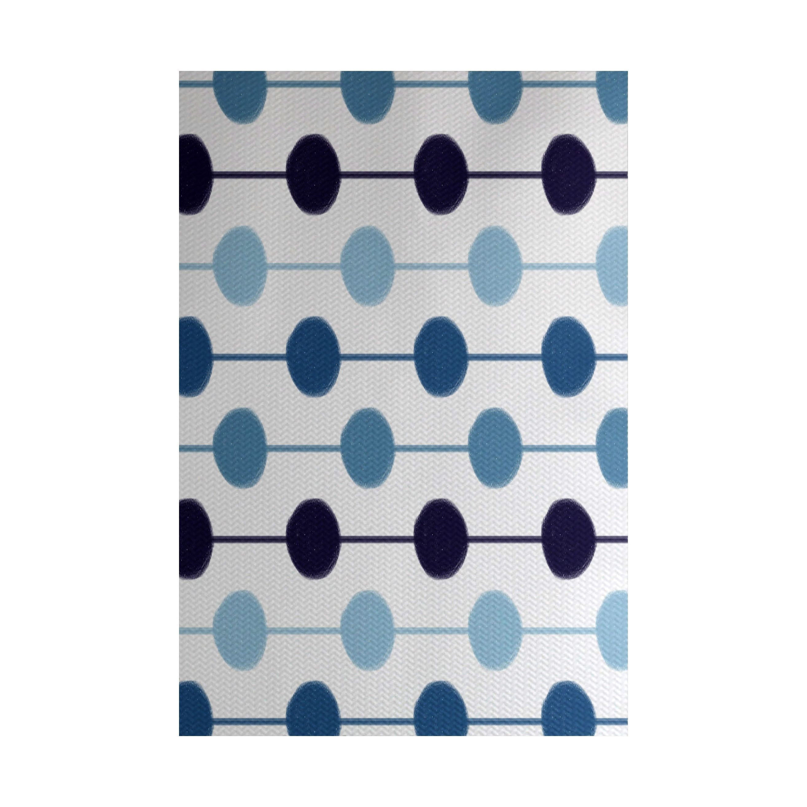 E by Design Brady Beads Print Indoor, Outdoor Rug