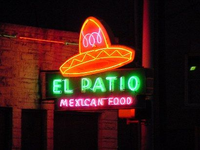 Austin Tx Neon El Patio Mexican Food Austin Texas In