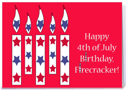 Fourth Of July Birthday Greetings 4th Of July Birthday Star