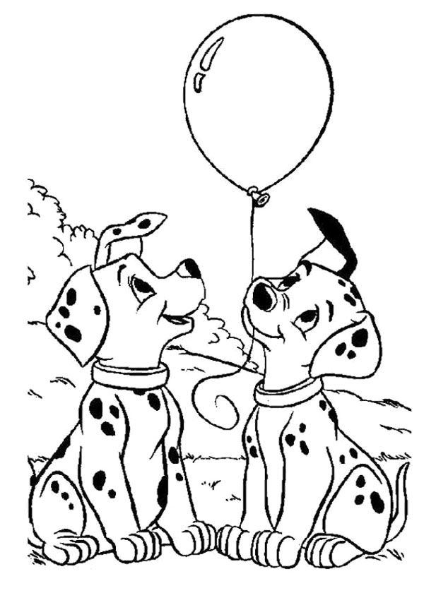 Dog New Year Balloon Coloring Page New Year Coloring