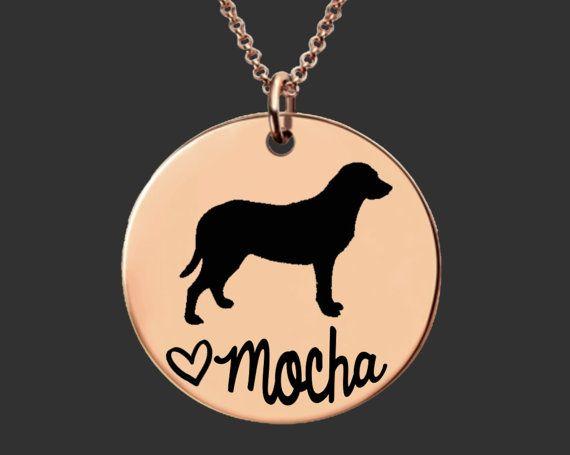 Rose Gold Dog Necklace Dog Jewelry Dog Pendant Personalized