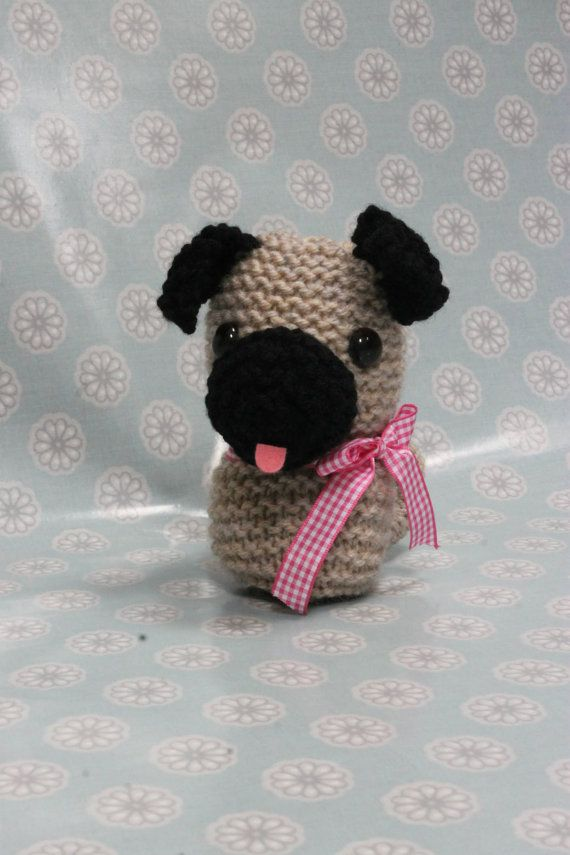 Toy Knitting Pattern PDF Pug The Puppy | Pinterest | Knit patterns ...