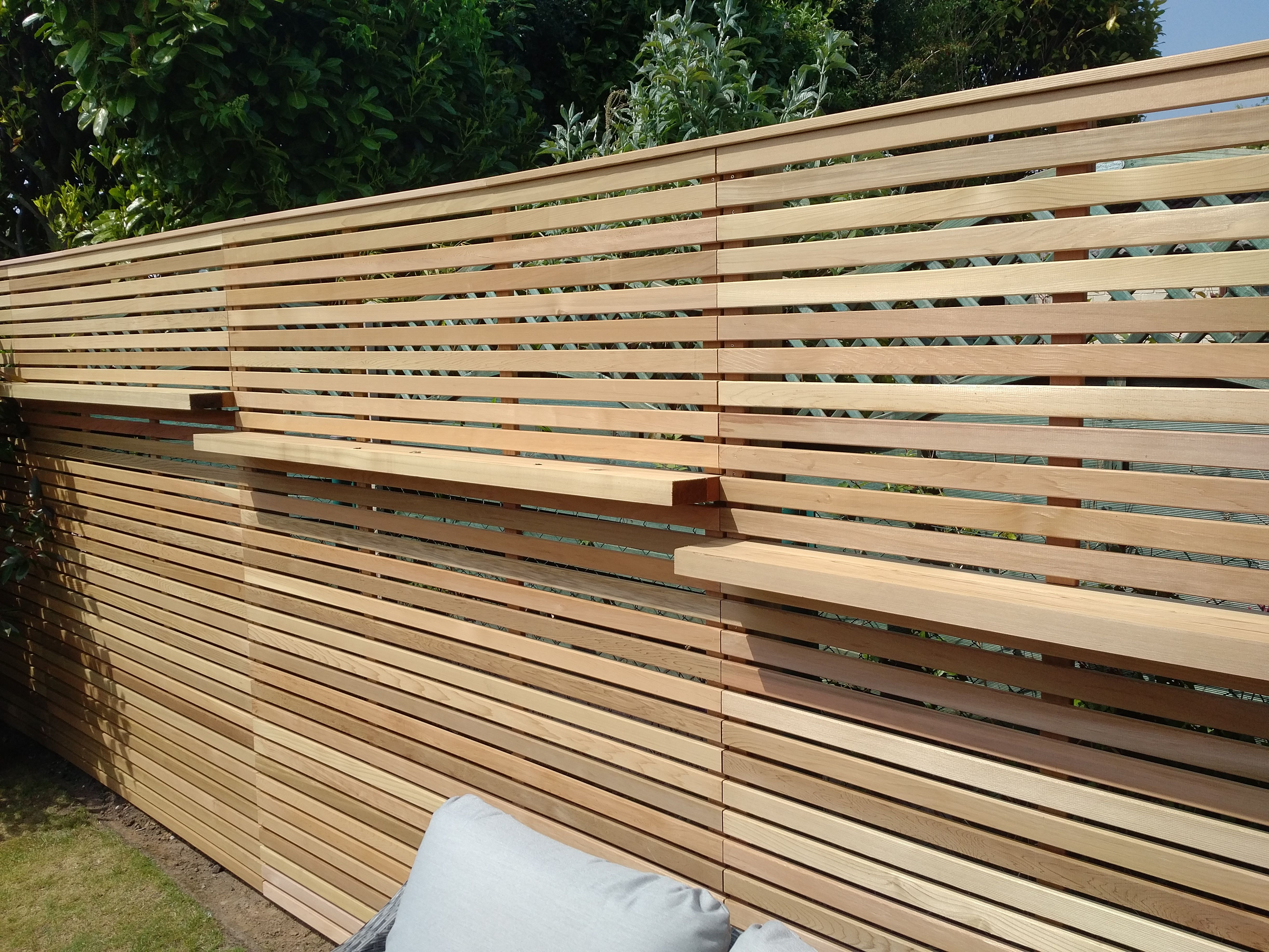 Cedar Fencing With Shelving Slatted Fence Panels Small Garden Fence Fence Panels