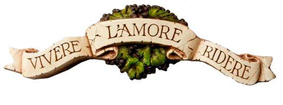 Italian Plaque Door topper with the words Live Love Laugh