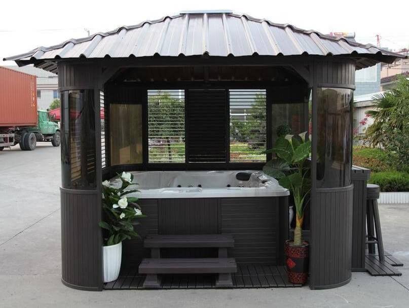 110 Gazebo Designs Ideas Wood Vinyl Octagon Rectangle And More Hot Tub Gazebo Hot Tub Landscaping Gazebo