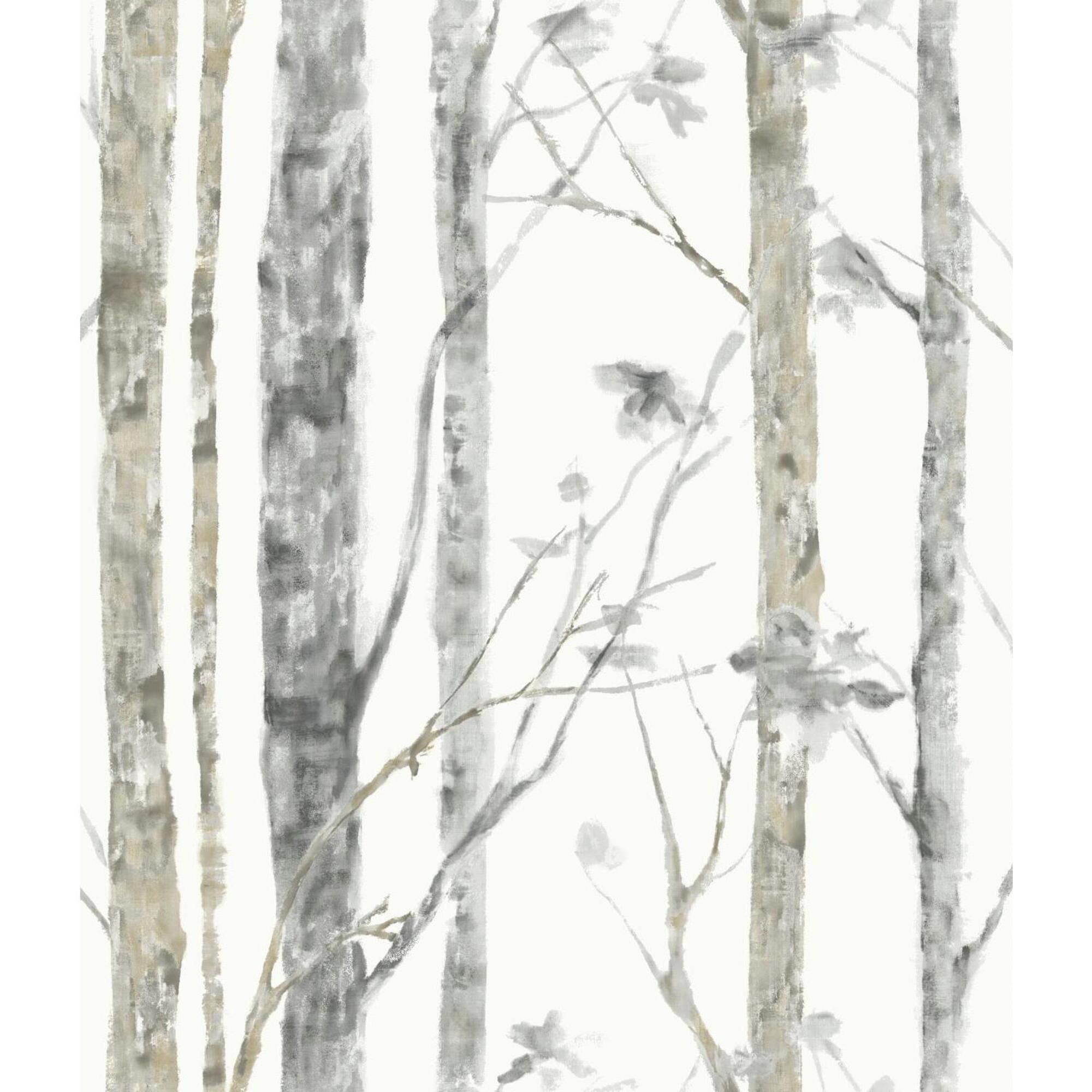 Woodland Forest Peel And Stick Wallpaper Birch Tree Wallpaper Tree Wallpaper Peel And Stick Wallpaper