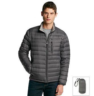 Calvin Klein Mens Packable Puffer Vest Black - Coats & Outerwear
