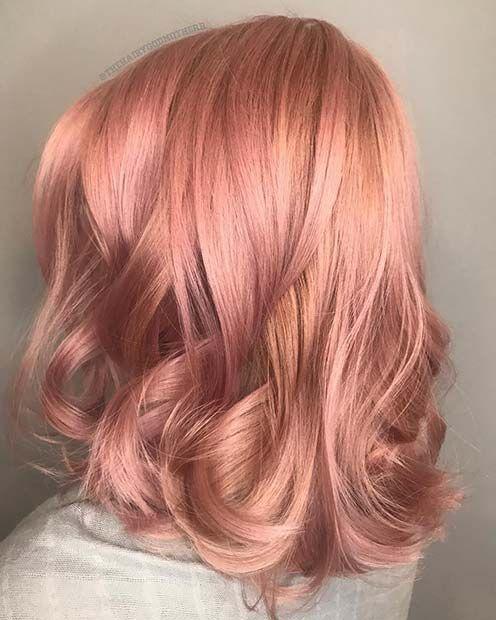 Photo of 43 Trendy Rose Gold Haarfarbe Ideen